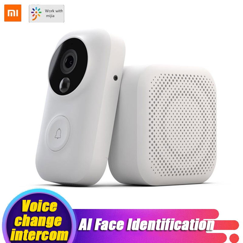 Xiaomi Video Doorbell Zero AI Face Identification 720P IR Night Vision Set Motion Detection SMS Push
