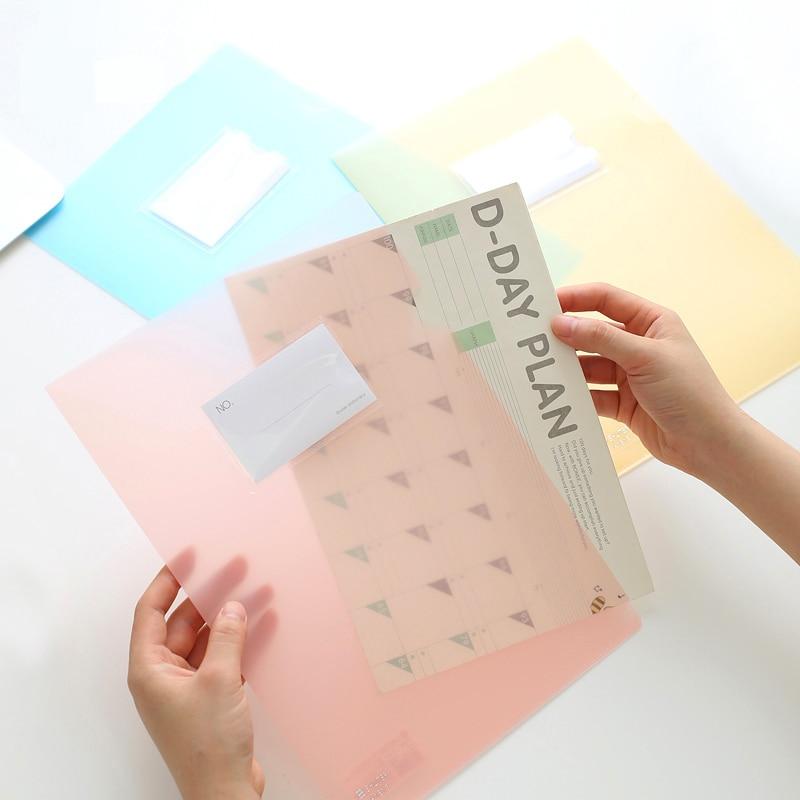 5Pcs/lot 308*220mm Translucent Single Page Folder L Type Insert File ...