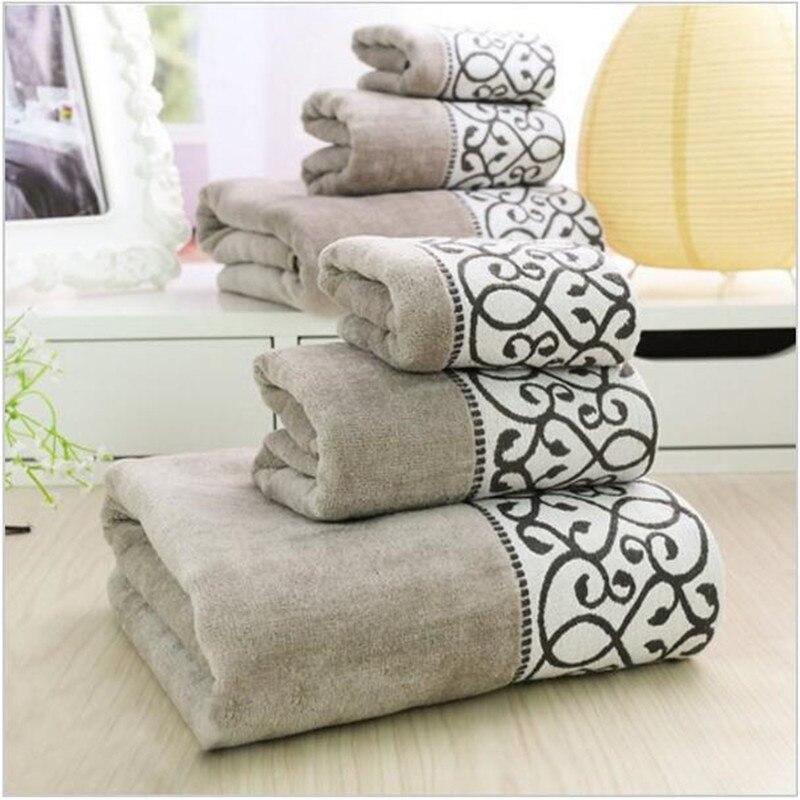 3 pz decorativo cotone asciugamani da bagno di lusso imposta per adulti modello elegante di