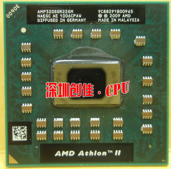 original AMD Athlon Laptop CPU Athlon II Dual-Core AMP320SGR22GM P320 2.1GHz 1M 25W P340 P560 P540 P860 amd athlon ii x2 340