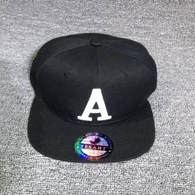 Bonés de beisebol carta 2017 das mulheres dos homens tampas de moda hip hop streetwear algodão mens snapback caps preto