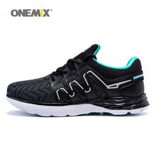 Onemix men running shoes black sport sneakers light jogging shoes for man athletic sneakers breathable outdoor walking shoes