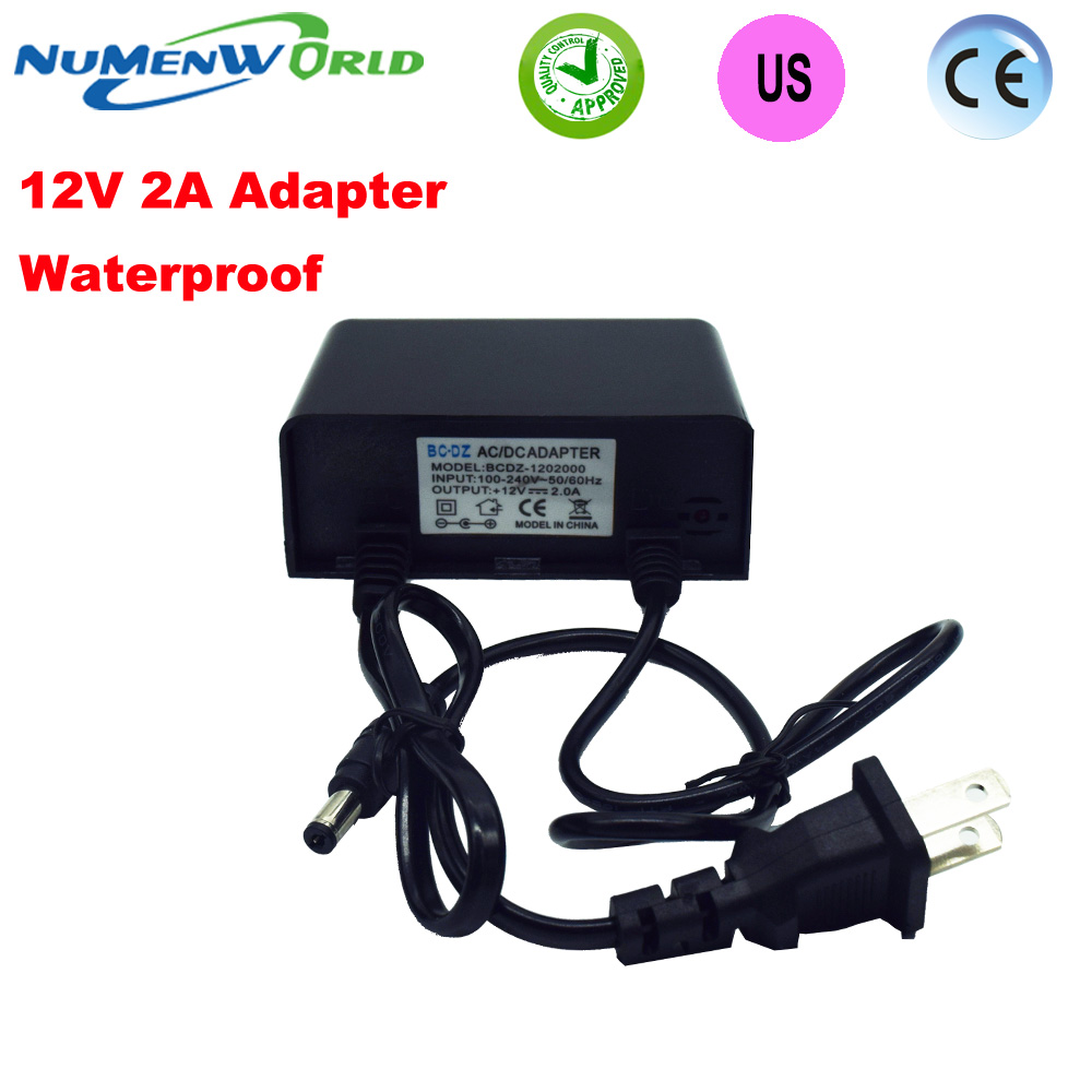 Waterproof outdoor Power supply adapter US America plug for CCTV camera IP camera DVR,input AC100-240V output DC12V2A Converter ctvman power supply adapter 12v 1a with eu us uk plug for cctv security surveillance ip analog network camera dvr recorder used