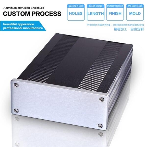 145 54 200 mm WxHxL Aluminum Network Cabinet Enclosure Custom DSP Cabinet Enclosure Custom Router Enclosure