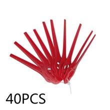 40 шт./упак. Замена Пластик лезвия резак для florabest триммер стрижки волос голова садовый инструмент для домашних животных