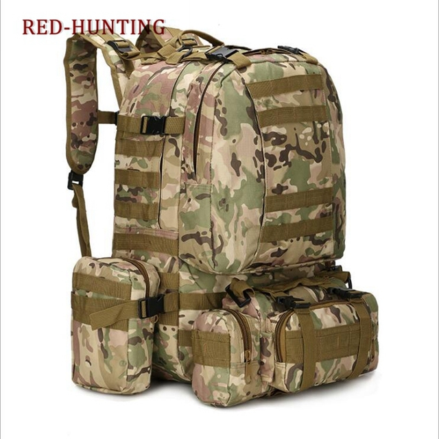 Multicam 50L Military Rucksacks Tactical Backpack Waterproof Assault Pack Combat  Backpack Trekking Bag -in Climbing Bags from Sports   Entertainment on ... e5ecbd514a133
