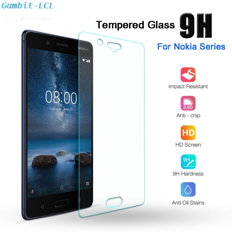 9H 2.5D Tempered Glass for <font><b>Nokia</b></font> 1 2 2.1 3 3.1 4.2 5 <font><b>5.1</b></font> 6.1 Plus GLASS Protective Film <font><b>Screen</b></font> <font><b>Protector</b></font> cover phone image