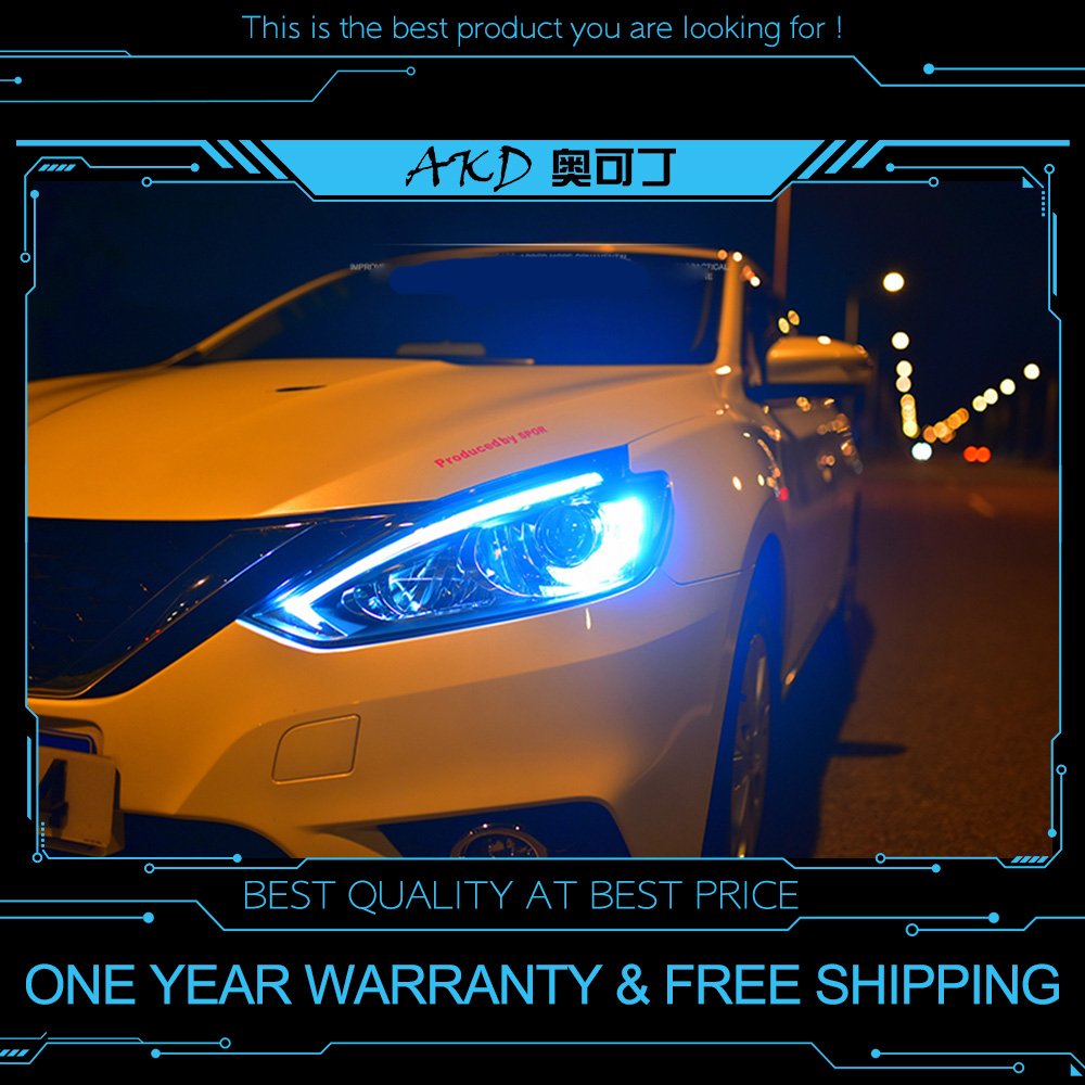 Akd Tuning Cars Headlight For Nissan Sentra Sylphy 2016