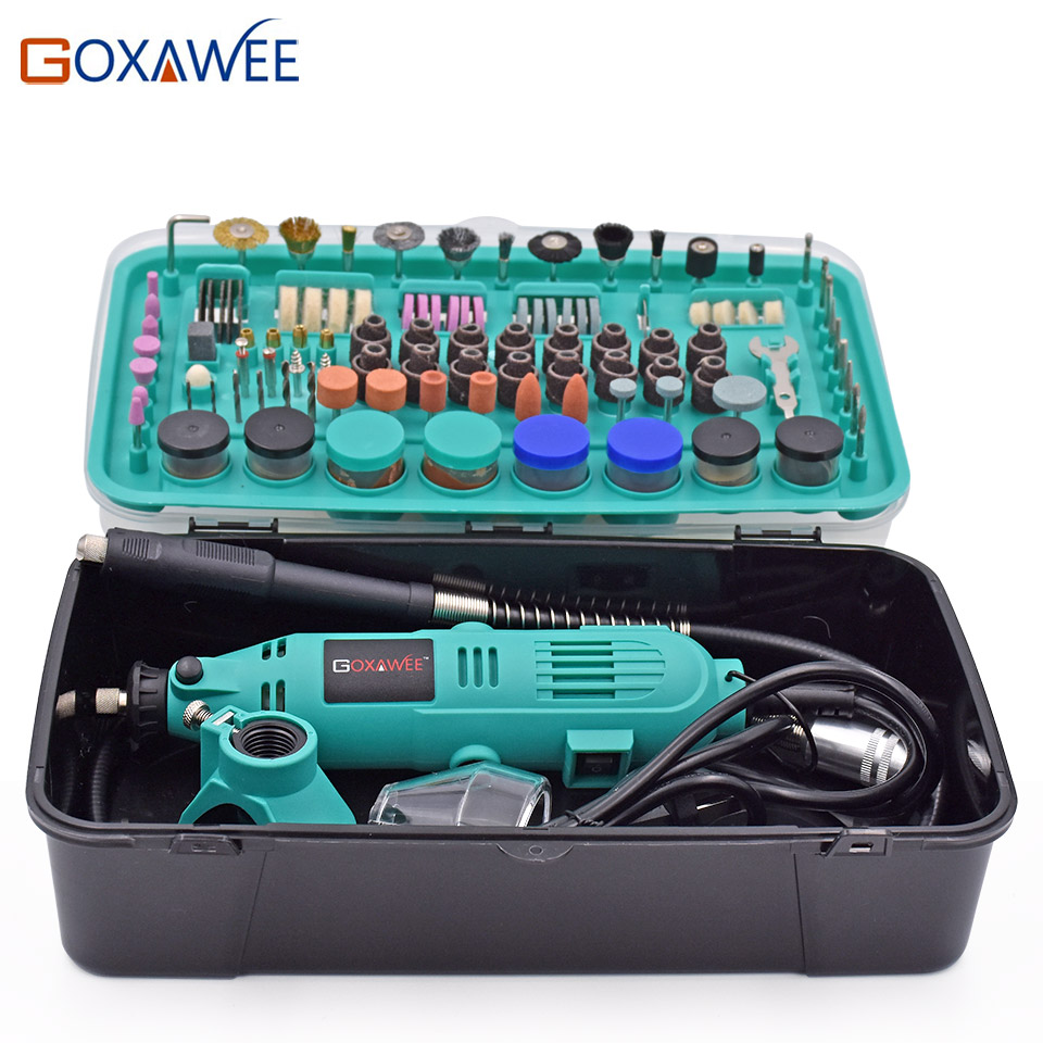 GOXAWEE 30000rpm Electric Drill Power tools Mini Grinder Rotary Tools With Polishing Tools Set Mini Grinding Tools Mini Grinder high quality mini drill variable speed hand drill electric grinding polishing grinder drillingtools professional power tools kit