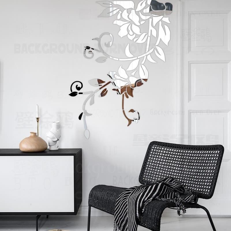 US $7.07 48% di SCONTO FAI DA TE primavera natura fresca vivid pianta  specchio decorativo autoadesivo della parete per arredamento camera da  letto ...