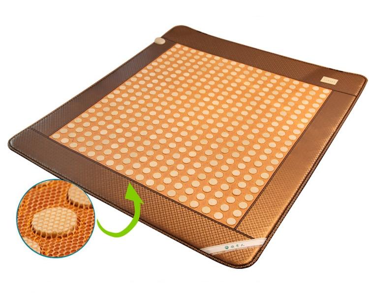 2016 Hot Sale China Heated Magnetic Negative Ion Tourmaline Mat Heating Germanium Cushion Pad Tourmaline Jade Mattress 1.2*1.9M hot sale jade cushion electric heated hot selling jade heating massage cushion 45 45cm