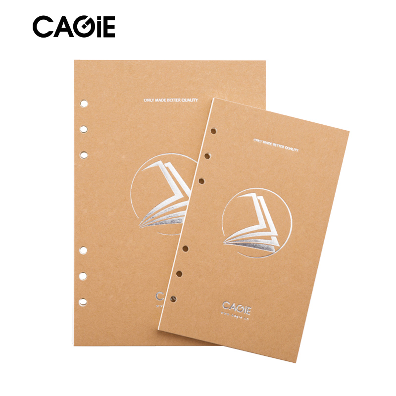 CAGIE New Blank Paper a7/a6/a5 Journal Refills Notebook Filler Paper Spiral Sketchbook Papper cagie a5 a6 a7 blank notebook filler paper traveler s sketchbook diary school office planner accessories spiral paper