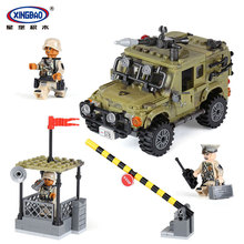 XingBao 06012 497Pcs Genuine Military Series The Ryan Car Set Building Blocks Bricks Toys Educational Funny Gifts to Children цена