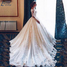 SHJ313 Vestidos De Novia Long Sleeves Lace Wedding Dresses 2019 Alibaba Custom Made Vintage Bride New Fashion Robe De Mariee(China)