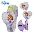 100% Genuine kids Brand Disney watches sofia Watch Princess Silicone Enfant Wristwatches 89004-84