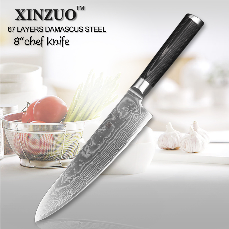 xinzuo 8 inch chef knife high quality 67 layer japanese vg10 damascus steel kitchen chef knife. Black Bedroom Furniture Sets. Home Design Ideas