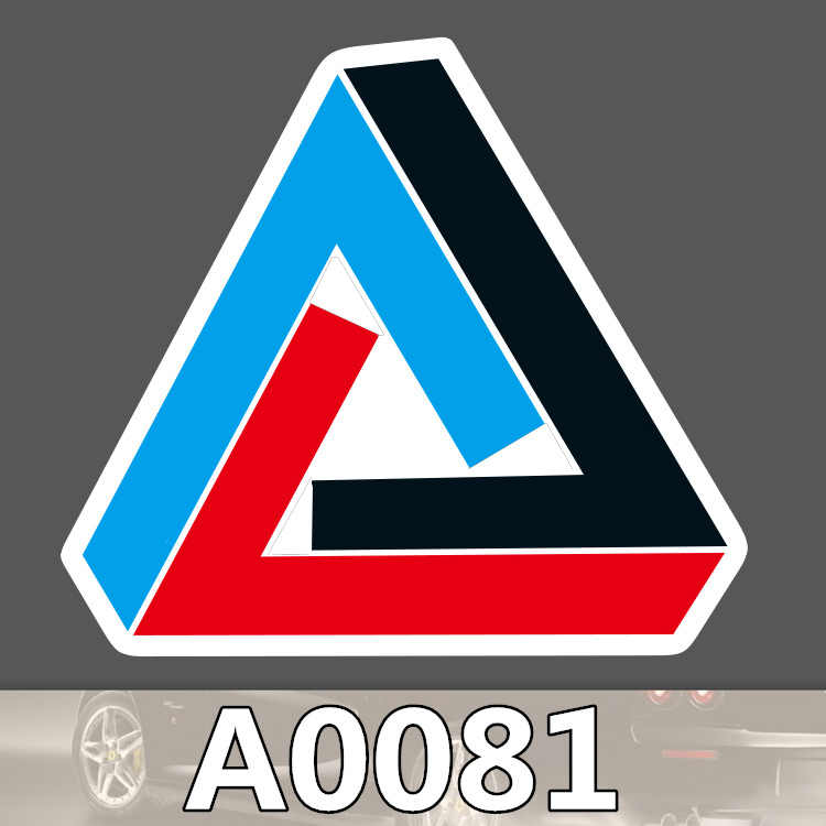 A0081 triangle logo sticker palac sign fashion waterproof suitcase laptop guitar luggage skateboard bicycle toy pvc stickers