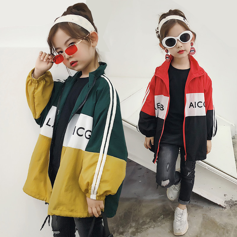 New Fashion Spring Antumn Teenager Girls Coats Kids Jackets for Girls windcheater Brand Outerwears Sportswear Children Clothing in Jackets Coats from Mother Kids