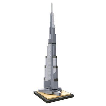 Hsanhe Architecture Burj Khalifa Tower World Famous Building Blocks Sets Bricks City Model Classic Kids Toys For Children 21035 lego