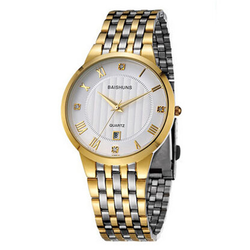 New Mens Watches Quartz Luxury Gold Watch Men Fashion Business Stainless Steel Watch Ultra Thin Watches For Men Cheap Price nibosi men s watches new luxury brand watch men fashion sports quartz watch stainless steel mesh strap ultra thin dial men clock