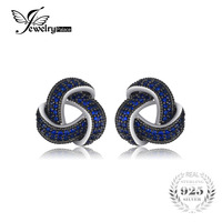 JewelryPalace 0 5ct Created Blue Spinel Flower Wraparound Cluster Studs Earrings 925 Sterling Silver Jewelry For
