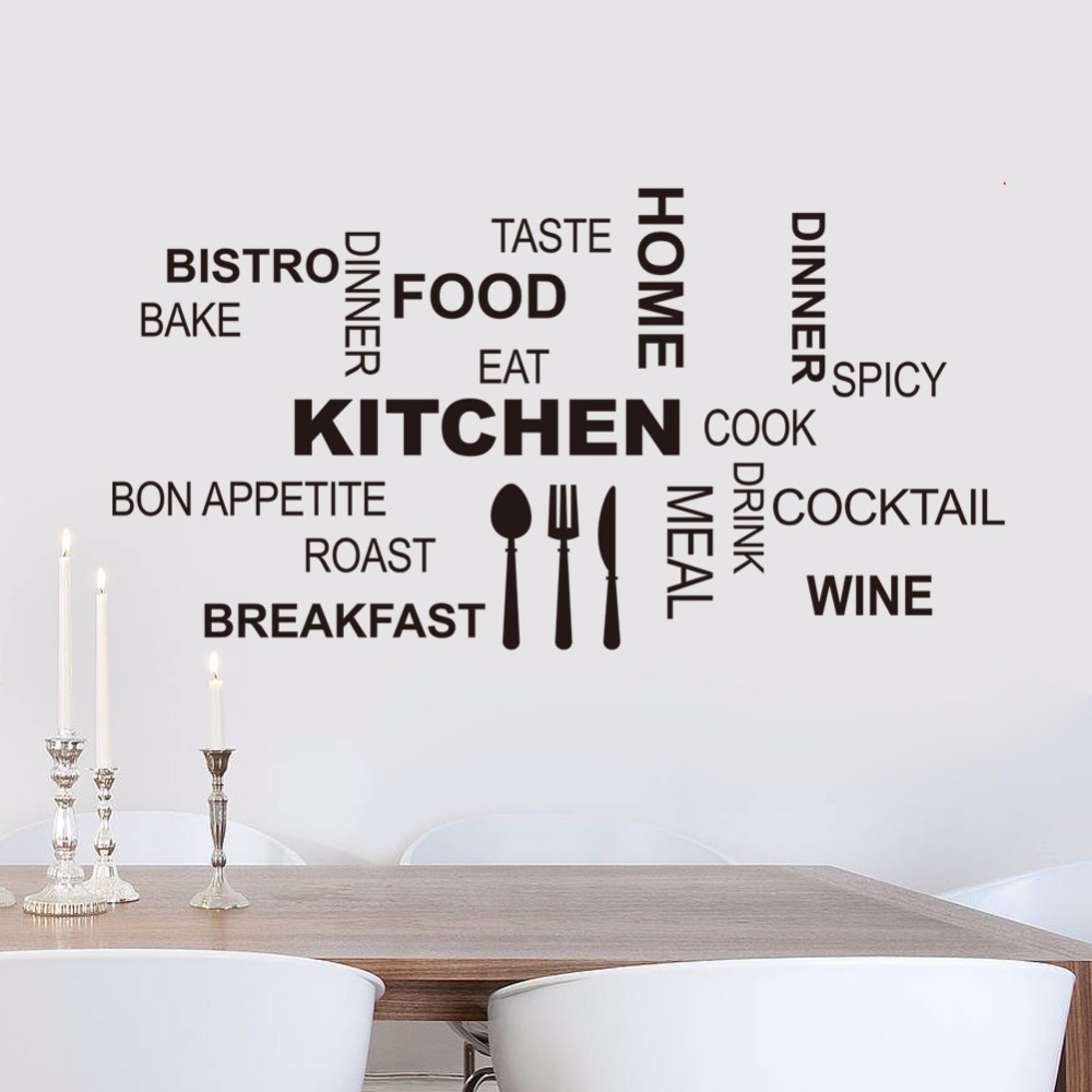 Kitchen Wall Quotes Art food wall stickers diy vinyl adesivo de ...