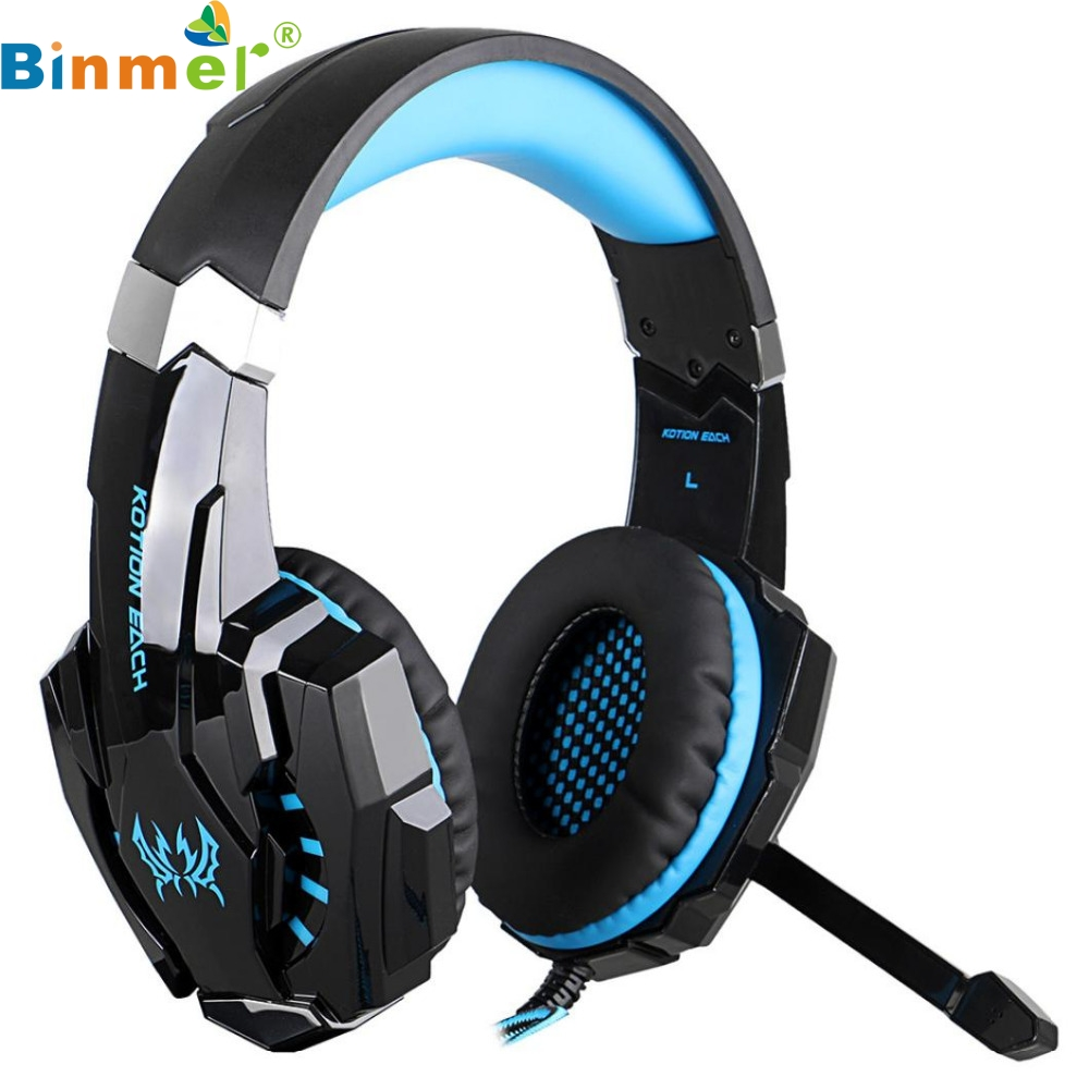 ФОТО Top Quality Hot Sale EACH  G9000 Stereo Gaming Headphone Computer Game Headset with Mic Red LED Light MAY 26
