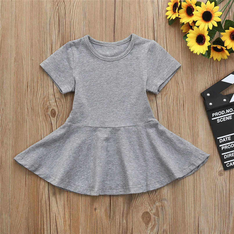 Summer Girls Dress Baby Girls Clothing Toddler Baby Girl Short Sleeve Ruffle Casual Dresses Girl Costume Robe Fille #BL5