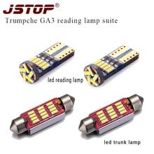 JSTOP 4piece set Trumpche GA3 car reading light T10 led canbus trunk Lights c5w 41mm festoon