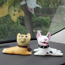 Автомобиль орнамент мультфильм милый Шиба-ину собака игрушка мультфильм авто Интерьер приборная панель украшение кукла аксессуар автомобиль-Стайлинг детский подарок