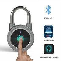Waterproof Keyless Fingerprint Smart lock APP / Fingerprint Unlock Anti Theft Padlock Door Lock for Android iOS System cabinet