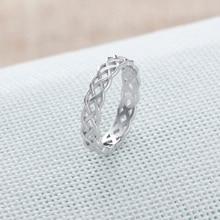 Soild Sterling Silver Hollow Design Ring For Women