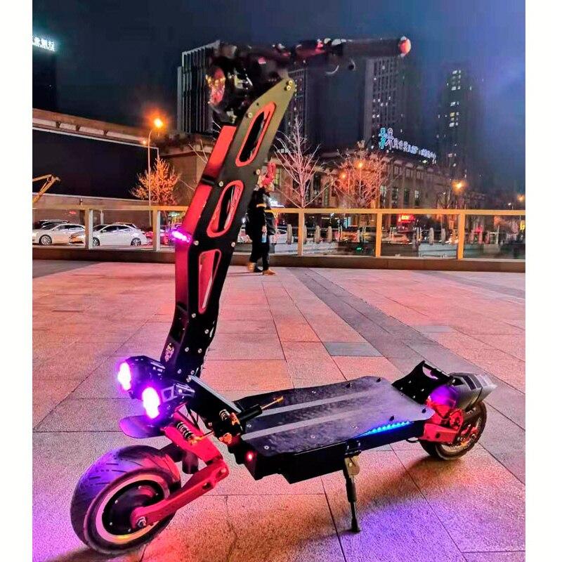 Planche à roulettes électrique adulte puissante de Scooter électrique de 60 V 3200 W avec la batterie au Lithium de LG outre des Scooters de gros pneu de grande roue de route