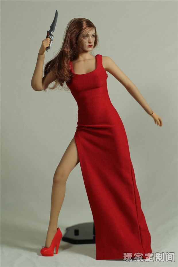 1 6 scale red dress images