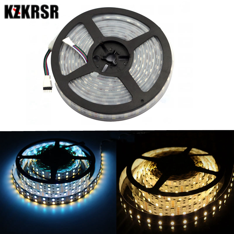 KZKRSR 2.4G 5M DC 12V SMD 5050 Double Row RGBW RGBWW LED Strip IP20 Non-waterproof IP65 Waterproof 120 LED / M Flexible LED Tape цена