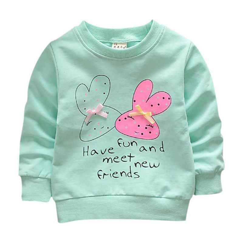 Bébé fille sweats printemps chemises infantile à manches longues T-Shirts vêtements 2018 printemps enfants lapin dessin animé sweat