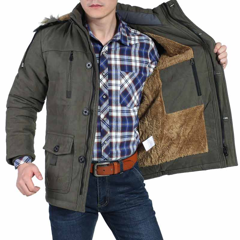 Plus Size 5XL 6XL Men's Windbreaker Winter Jacket Men Thick Warm Parkas Hombre Invier Velvet Hooded Zipper Coats Male DJ050 free shipping winter parkas men jacket new 2017 thick warm loose brand original male plus size m 5xl coats 80hfx