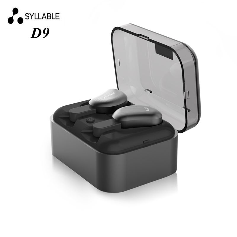 DHL free shipping Syllable D9 Twins Bluetooth Earphones True Wireless Stereo Earbud Sweatproof wireless sports bass headsets