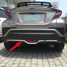 лучшая цена Fit For Toyota CHR C-HR 2017 2018 Chrome ABS Rear Bumper Protector Cover Trim