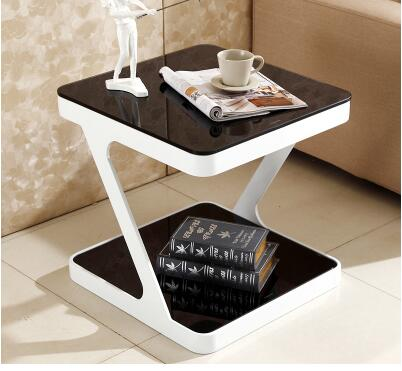 Simple modern tempered glass coffee table. Creative living room small side coffee table. creative apartment living room coffee table round table simple modern small coffee table corner table