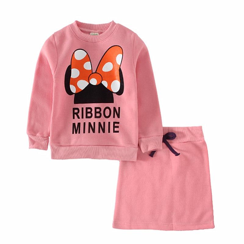 2021 baby clothes set Spring Girls clothing Minnie bow skirt suit children suit children suit wholesale children's skirt suits 5