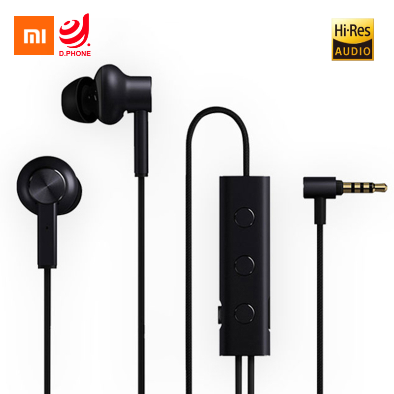 Original Xiaomi Mi Active Noise Cancelling Earphones 3.5mm ANC Earbuds With Mic L Plug Hi-Res Quality Music For Smartphones