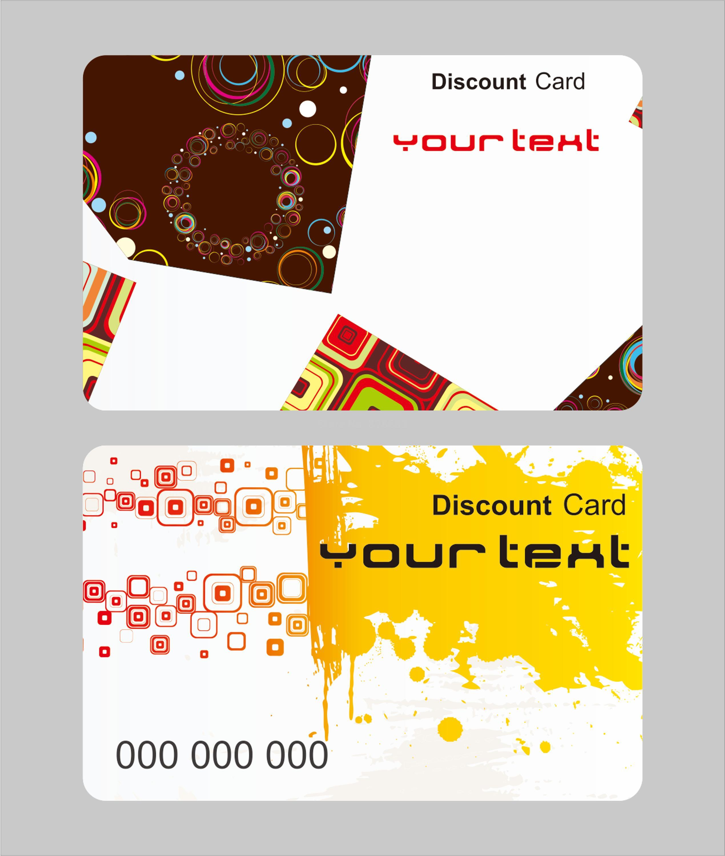 colorful ink design template art map modern matte white plastic cards Y0060