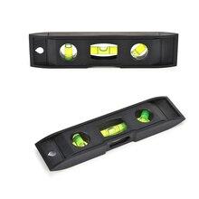 0-230 мм Вертикальная линейка уровня магнит пузырьковый сантехник измерительные инструменты черный пластик спиртовой уровень торпедный уровень измерительные инструменты