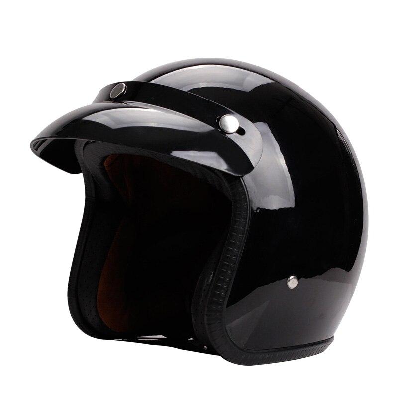 Vintage casque rétro moto casque pour chopper vélos pour Harley vélos casque 3/4 ouvert visage modulaire masque détachable lunettes