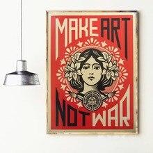 цена Make Art Not War Canvas Art Print Painting Poster Wall Pictures For Living Room Home Decoration Home Decor No Frame онлайн в 2017 году