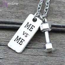 Anslow Sports Leisure Style Vintage Pendant Necklace Unisex For Women And Men 50cm Length Wholesale Cheap Free Shipping N0001AN