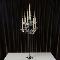 Elegant Tall Crystal Candlestick Wedding Table Centerpieces Crystal Candelabras Floor Stand