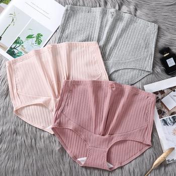 5549 #1 sztuk wysokiej talii regulowany brzuch bawełniane majtki ciążowe z koronki bielizna odzież dla ciężarnych kobiet figi ciążowe tanie i dobre opinie SexeMara COTTON WOMEN Macierzyństwo Natural color Suknem