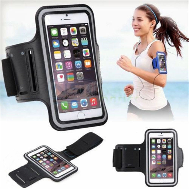 5 Pcs Grey Running Jogging Sports Waterproof Gym Armband Cover Holder Smartphone Case For Iphone 6 Plus Mobile Phone Accessories